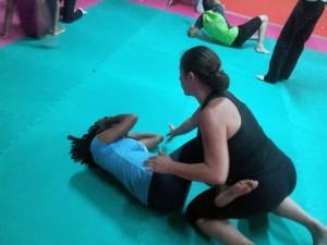 Journée de stage Amazon Training à la Guadeloupe : deux pratiquantes